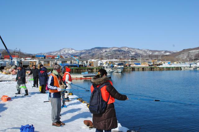 豊浦の冬の風物詩!チカ釣り&天ぷら