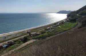 展望台からの高岡の浜