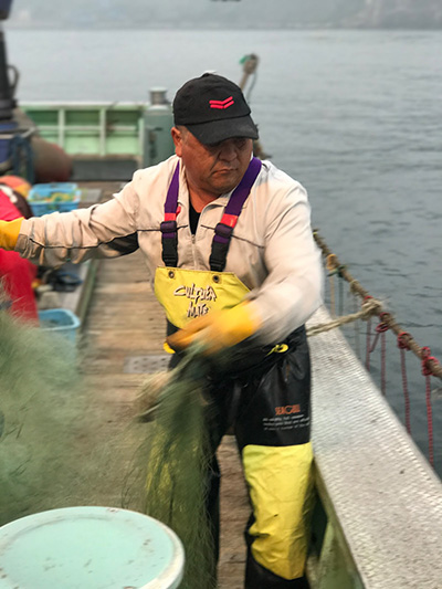 ホタテ漁師
